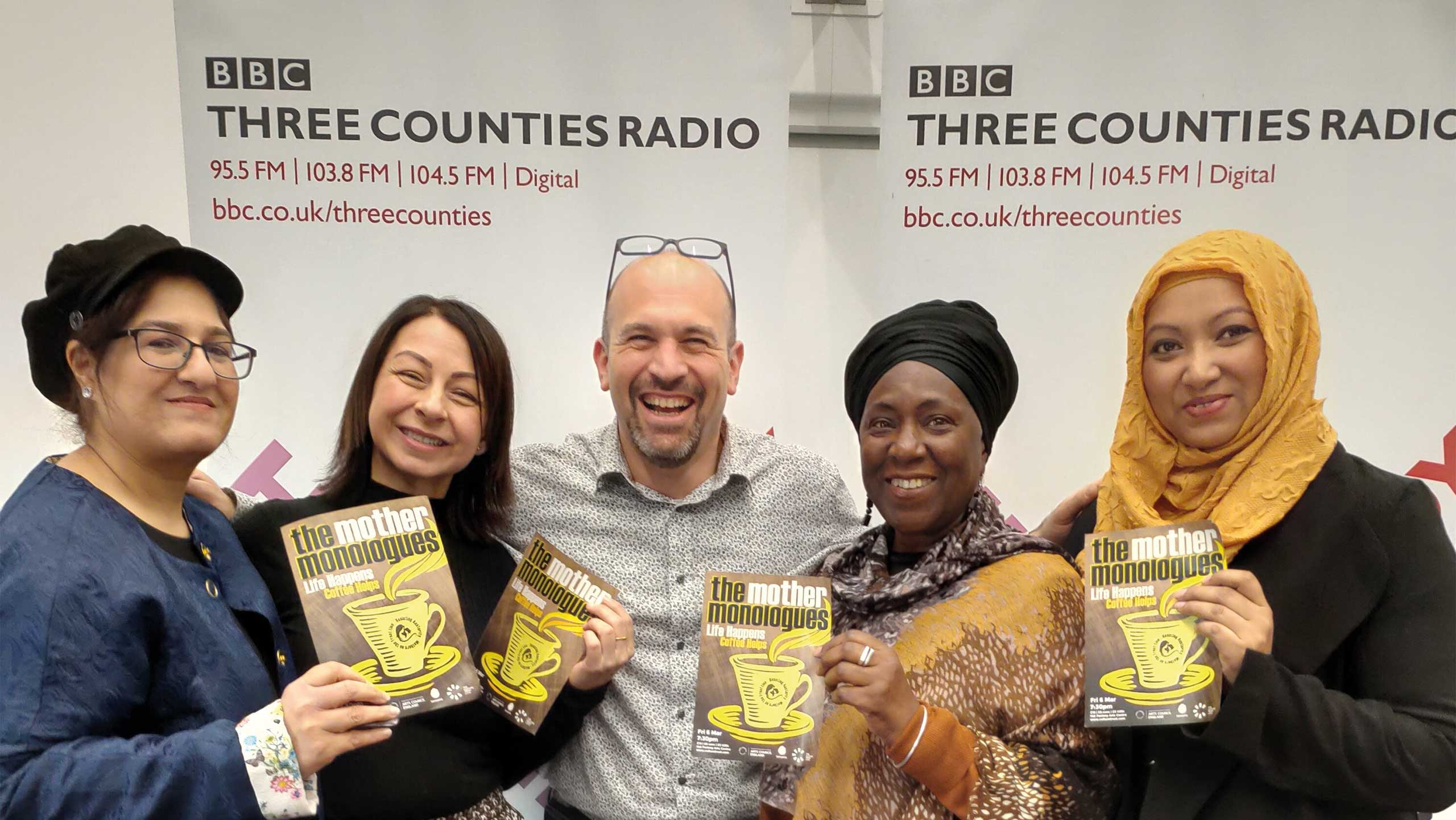 Image of mothers who are part of the mothers monalogue at BBC 3 counties radio